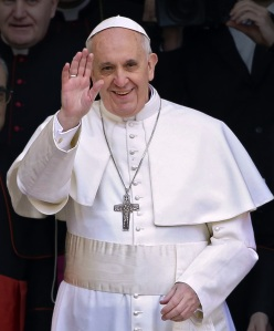 A smiling Pope Francis